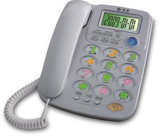 福多多电话机F044 特大铃声 超大色彩夜光按键